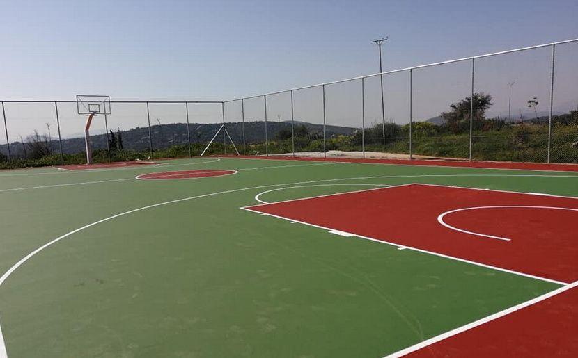 Ανοιχτό γήπεδο Μπάσκετ εικόνα