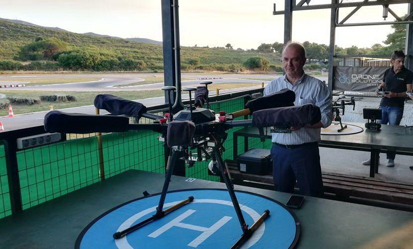 επίδειξη Drones Δήμαρχος Διονύσου εικόνα