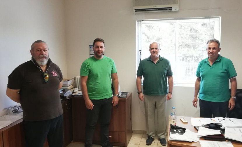 Δήμαρχος Καλαφατέλης και Διοικητές Αστυνομικού Τμήματος & Τμήματος Ασφαλείας εικόνα