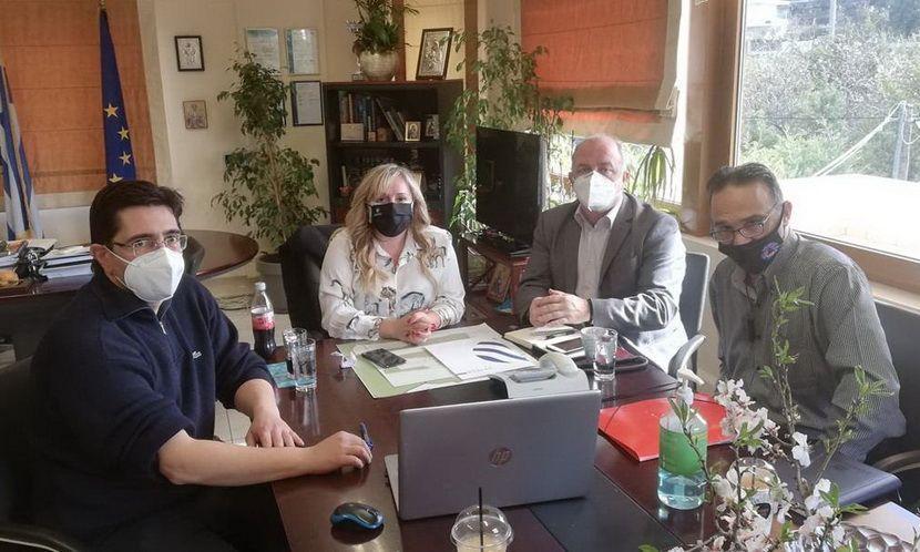 Καλαφατέλης Συνάντηση εργασίας στο Δημαρχείο Διονύσου
