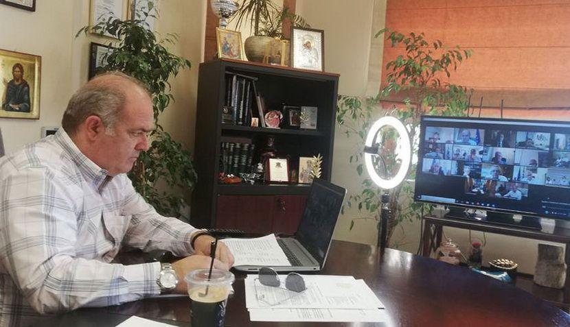 Tηλεδιάσκεψη - Δημάρχοε Διονύσου