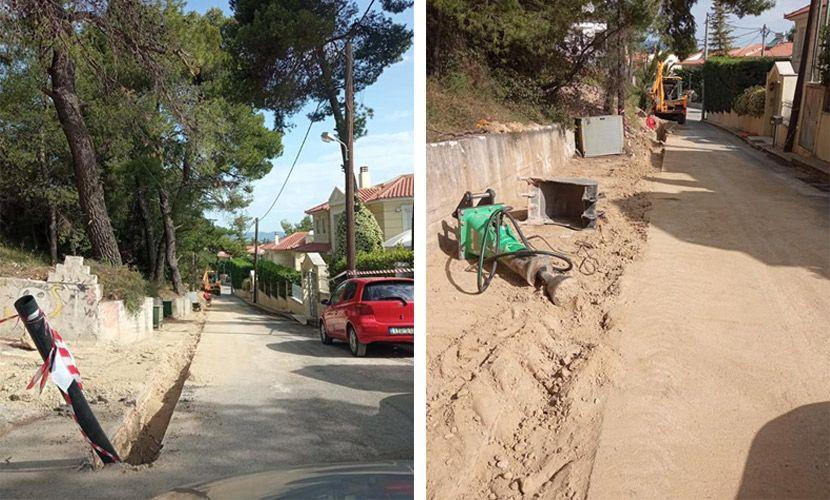 έργα δικτύου ύδρευσης - Δήμος Διονύσου